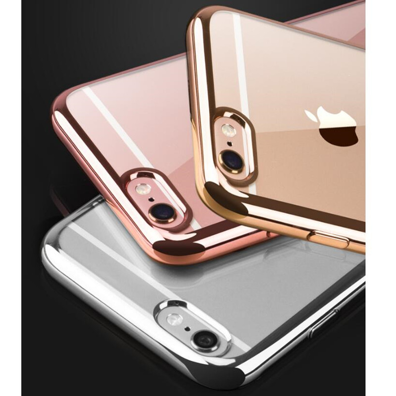 Rose Gold Luxury Plating Iphone X Xs Max Xr Soft Clear Tpu Cover For
