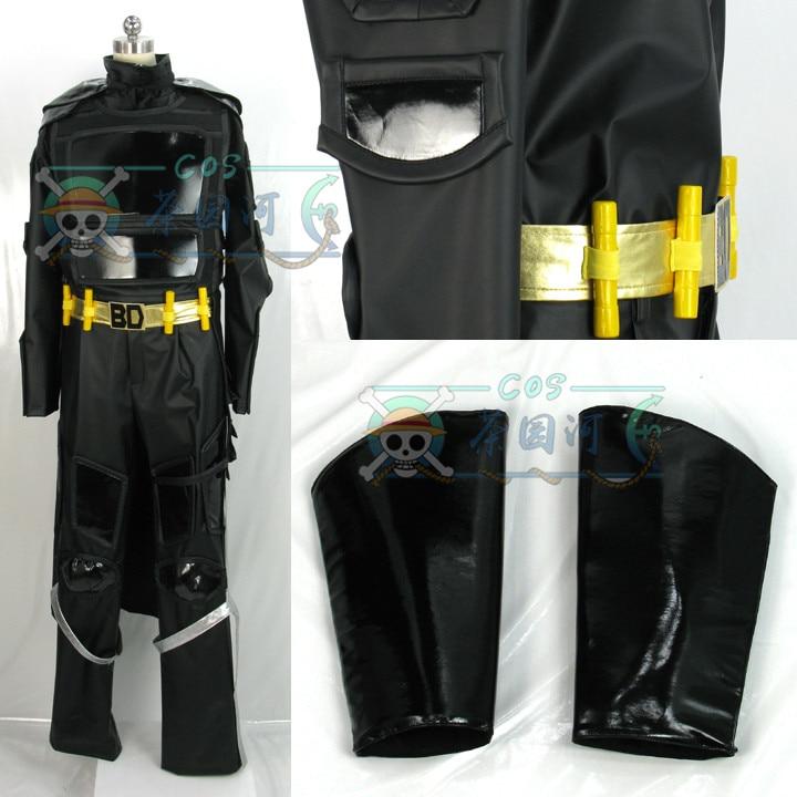 Kick-Ass 2 Kick Ass Cosplay costume Big Daddy Cosplay Costume black outfit custom made