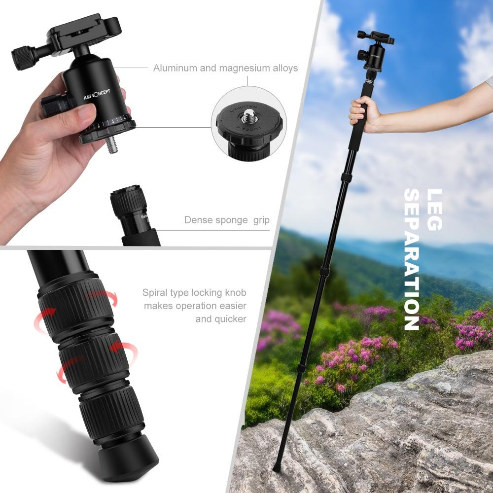 K&F CONCEPT KF-TM2515 fotoaparaadi statiivi kaasaskantav - Kaamera ja foto - Foto 3