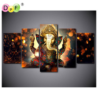 DPF Diamond Embroidery Holy Elephant Diamond Painting Cross Stich Diamond Mosaic Kit Full Square Needlework Home
