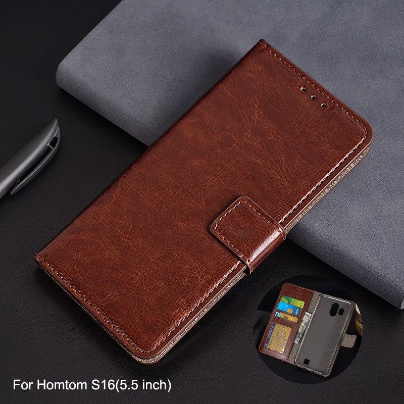 Für Homtom S16 Fall 5,5 zoll Brieftasche Stil Foto Rahmen Leder Fall für Coque Homtom S16 Flip Luxus Brieftasche Karte halter