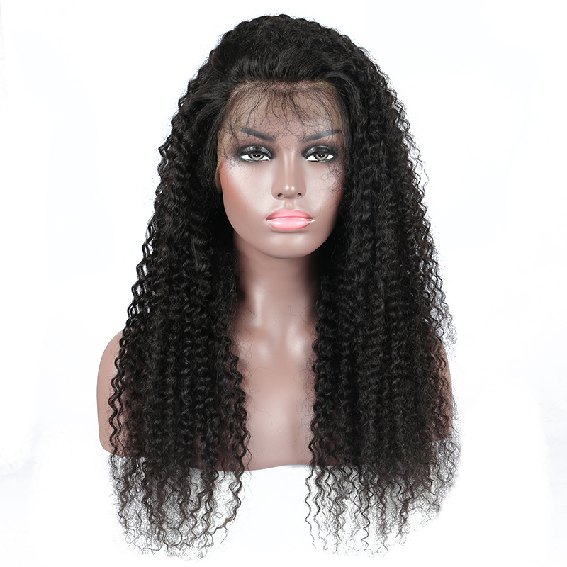 Glueless Pre Plucked Full Lace Human Hair Wigs For Women Kinky Curly Wig Brazilian Human Hair With Baby Hair Remy 130% CARA