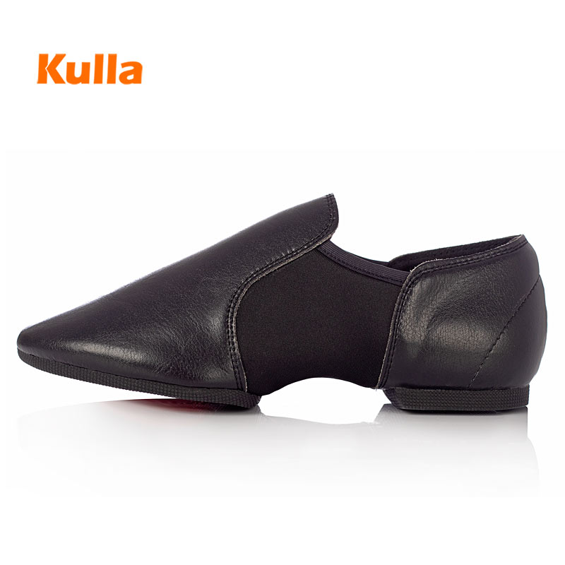 Jazz Dance Shoes Women Genuine Leather Stretch Ballet Jazzy Dancing Shoes Teacher's Exercise Soft Sole Training Dance Sneakers(China)