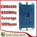 Marketing direto Sunhans Display LCD CDMA850Mhz Coverage3000square CDMA Impulsionador Amplificador 10 unidades/lotes Frete grátis gota