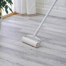 New Bathroom kitchen Hair Dust Clean Broom Retractable Rolle
