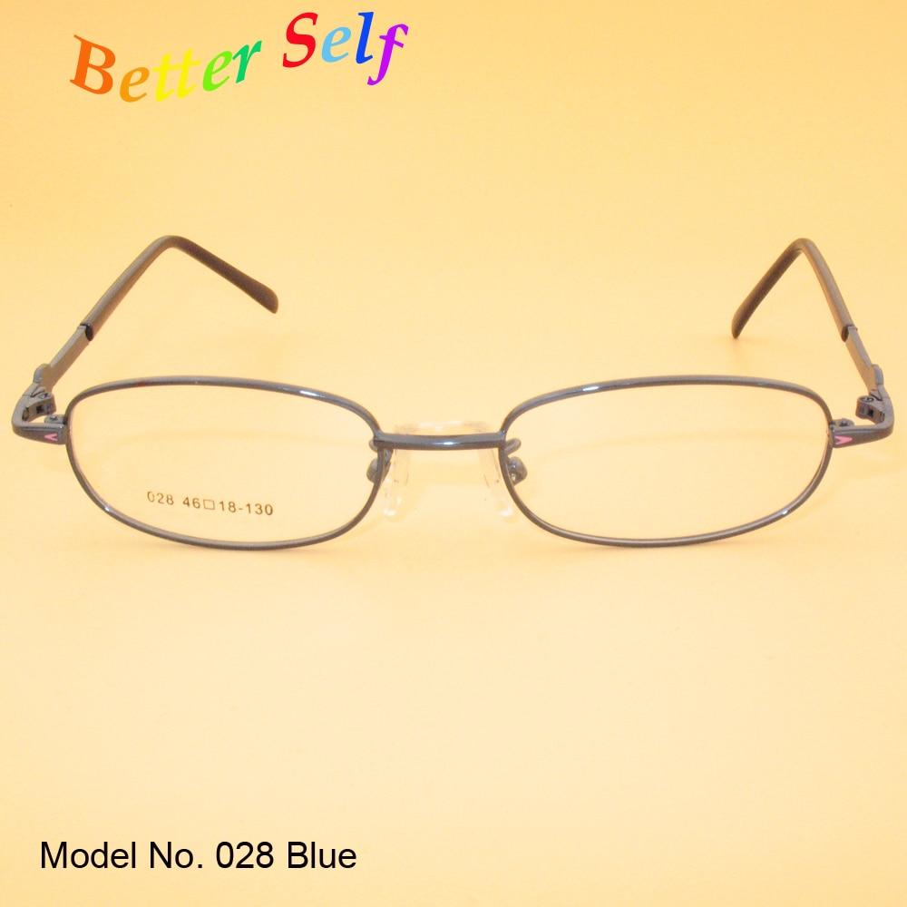 8ca74ae6fd87 Kid Spectacles Oval Eyewear Frame Metal Eyeglasses Can Do Myopia Optical  Glasses Better Self F028