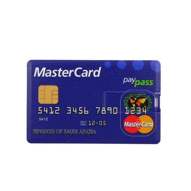 Credit Card USB Flash Drive 4GB 8GB 16GB cle USB 2.0 U disk 32GB Pen drive memory stick 64GB pendrive real capacity USB key