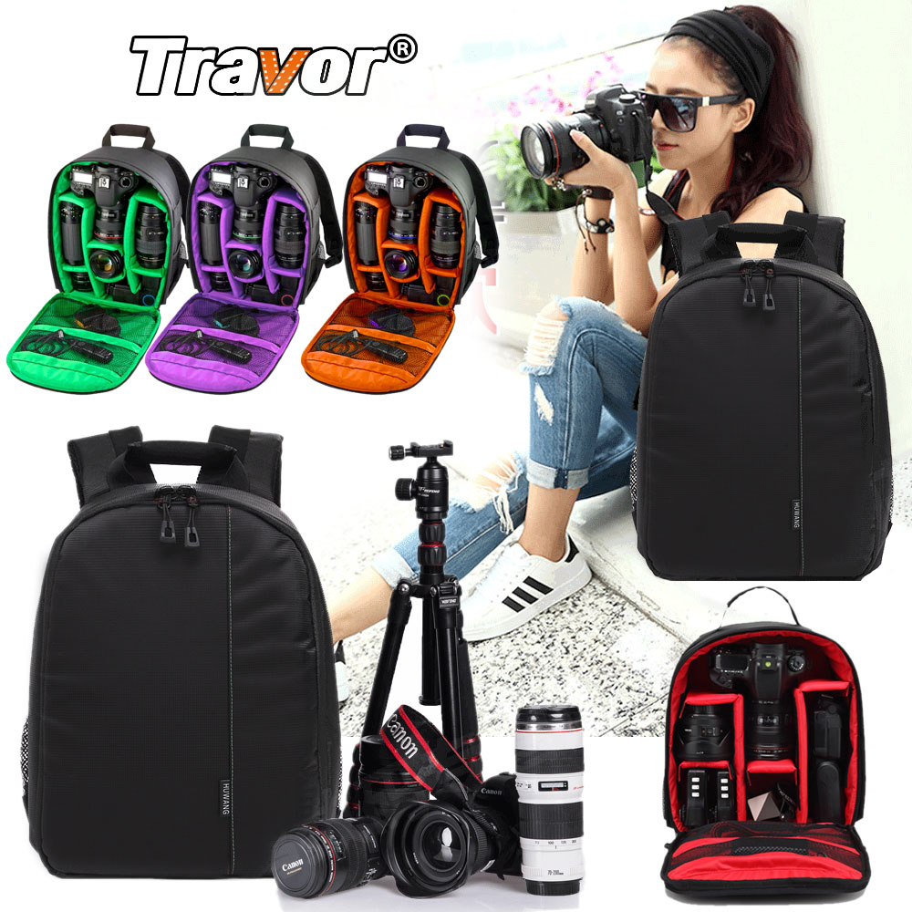 Travor Waterproof Multi-functional Digital DSLR Camera Video Bag Small DSLR Nikon Canon Camera Backpack for Photographer camera backpack dslr slr camera case waterproof bag for nikon canon camera bag multi functional digital dslr camera video bag