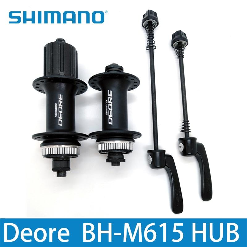 SHIMANO DEORE M615 32 H moyeu de vélo de verrouillage central avant et arrière vtt VTT pièces de frein à disque moyeu et dégagement rapide pour 8/9/10 S