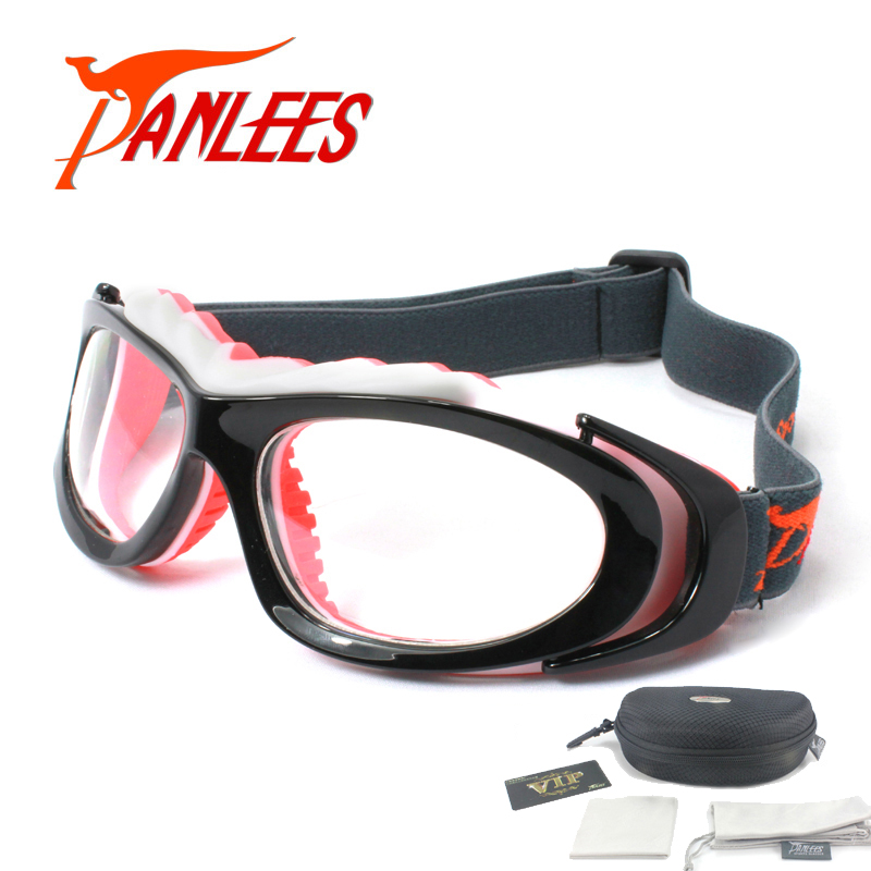 Panlees  Sports Design Soccer Basketball Football Prescription Optical Lenses Men Women Elastic Band Strap Safety Goggles