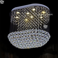 the new listing modern design large chandelier crystal luxury foyer chandeliers the new listing 100% quality guarantee
