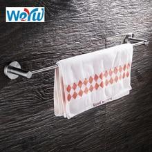 WEYUU 304 stainlesingle Полотенца бар держатель настенный 40/50/61 см Аксессуары для ванной комнаты Полотенца стеллаж для выставки товаров для волочения проволоки