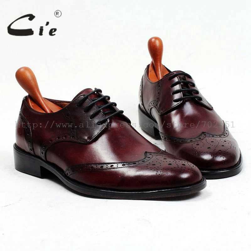 cie Free Shipping Bespoke Custom Handmade Full Brogues Genuine Calf Leather Men's Derby Size 6-12 Dress Color Brown Shoe No.D150 купить часы haas lt cie mfh211 zsa