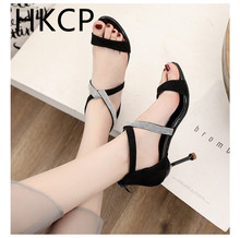 HKCP Womens stiletto sandals new summer sexy fashion water diamond womens shoes Korean version versatile heels C088
