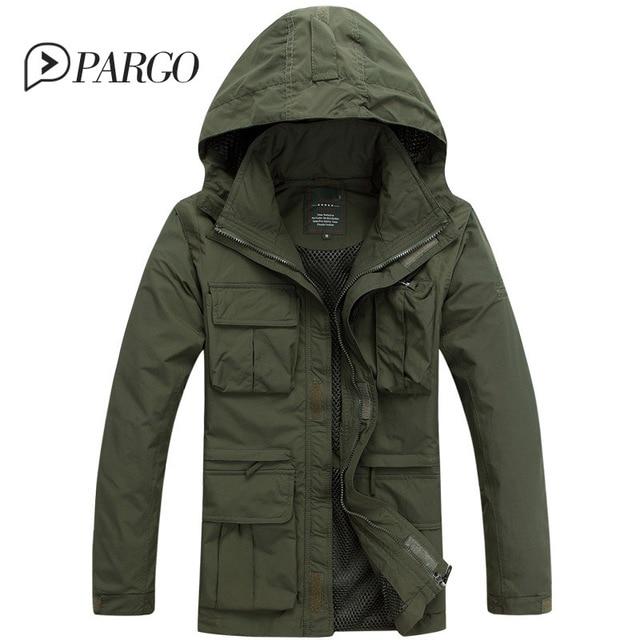 2017 брендовая мужская одежда повседневная мужская Куртки хлопок Мужские  парки Пальто Военное Дело Куртка Длинные рукава 298930f49ca55