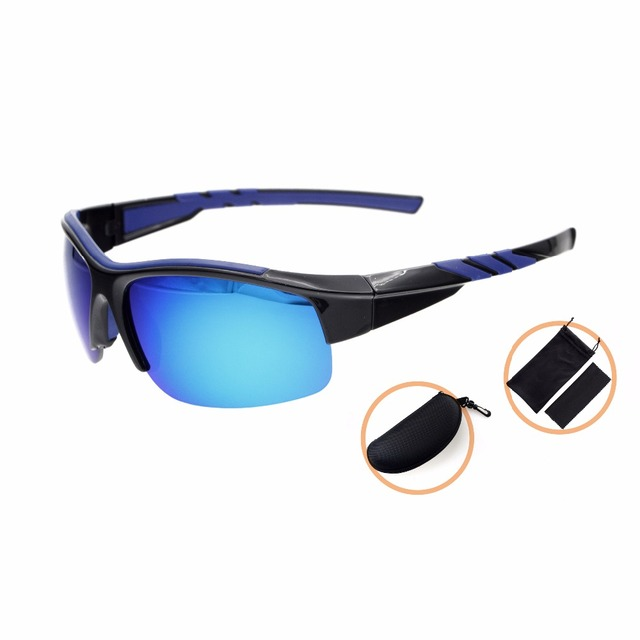 TH6226 Eyekepper Polycarbonate Polarized Sport Sunglasses For Men Women Half Rimless TR90 Unbreakable