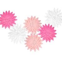 HAOCHU 6 Cái DIY Đa Màu 30 cm 3D Mô Phỏng Đám Cưới Hoa Giấy Phông Nền Hồng Sinh Nhật Màu Trắng Bên Trang Trí B