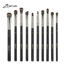Zoeva 10 шт макияж кисти для макияжа глаз комплект Синтетический волос Тени для век разноцветные кисти Складки Комплект для тени для смоки айс для глаз бровей