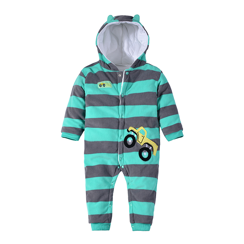 62885f3b8b66 2018 Baby Warm Clothes Winter Thick Hooded Romper Newborn Boys Girls Animal  Casual Cotton windproof Jumpsuit Padded Outerwear-in Rompers from Mother    Kids ...