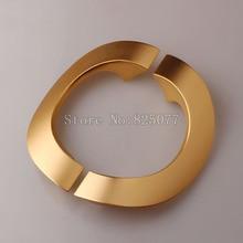 Semicircle champagne/alumina/Jazz black color space aluminum glass door handle office bathroom length 250mm JF1249