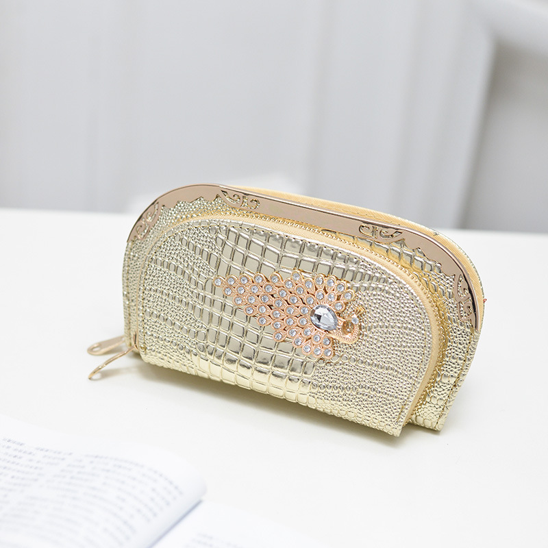 Women Luxury Alligator font b Clutch b font Purse With Phone Package Ladies Crystal Minaudiere font