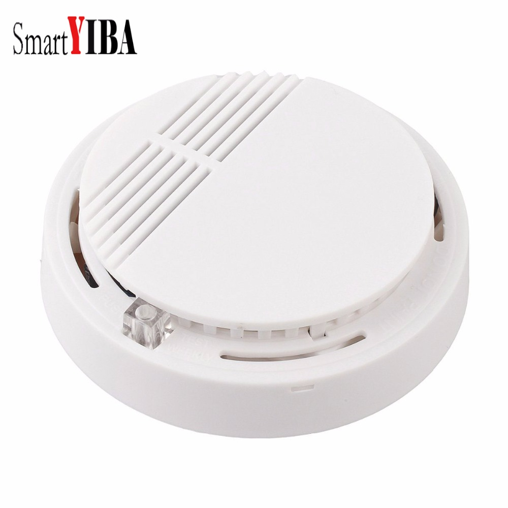 SmartYIBA Fire Smoke Sensor Detector High Sensitivity Wireless Alarm Home Store Shop Indoor Smoke Detector Security System