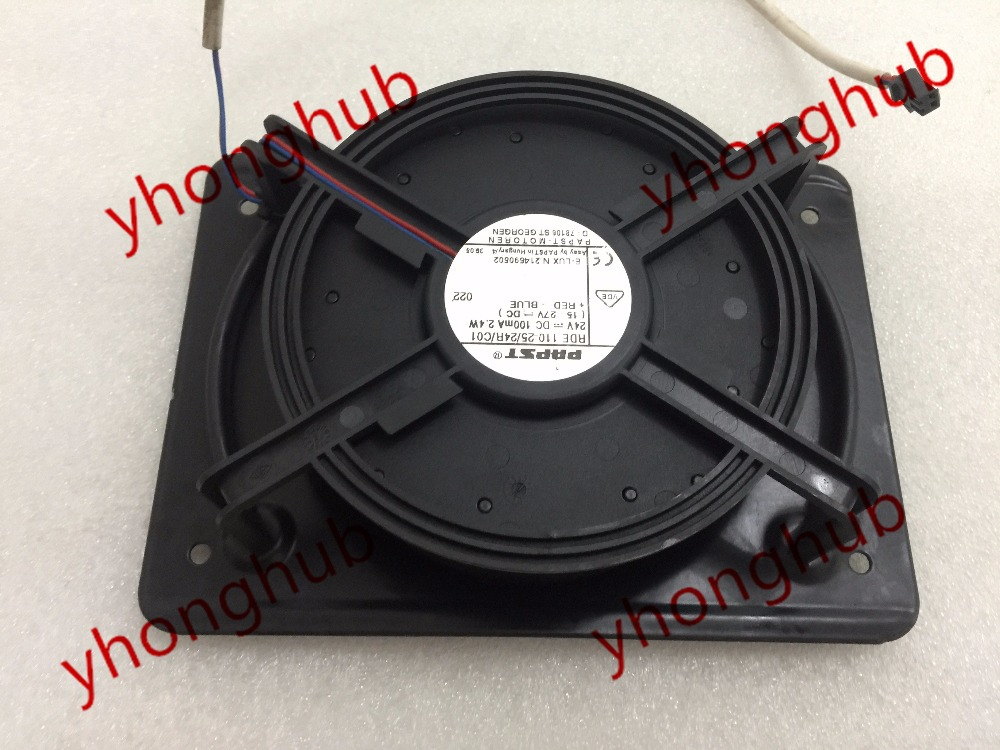 Free shipping  For ebm-papst  TYP RDE 110-25/24R/C01 DC 24V 2.4W 2-wire 2-Pin connector 80mm Server Round Cooling fan free shipping 370 6072 03 540 6706 01 server fan for sun netra440 n440 tested working