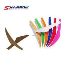 40 Pieces Archery Arrow Feather 4inch 8-Color For Choice KING Turkey Solid Color
