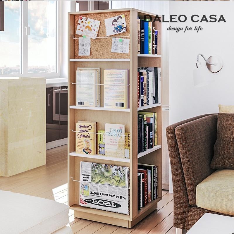 Nordic IKEA IKEA Style Multifunction Rotating Bookcase