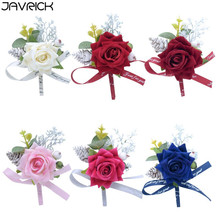 Men Corsage Groom Brooch Flowers Boutonniere Pin Bridal Corsages Bridesmaid Wedding Flower Accessories in stock hot sale 1pcs lot ivory wedding corsages boutonniere groom diamond crystal wedding flowers pearl beaded brooch flowers