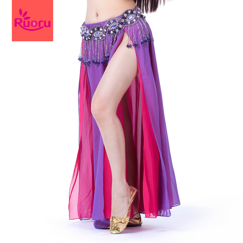 Ruoru Dress Bellydance-Costume Skirt Sexy 12-Color