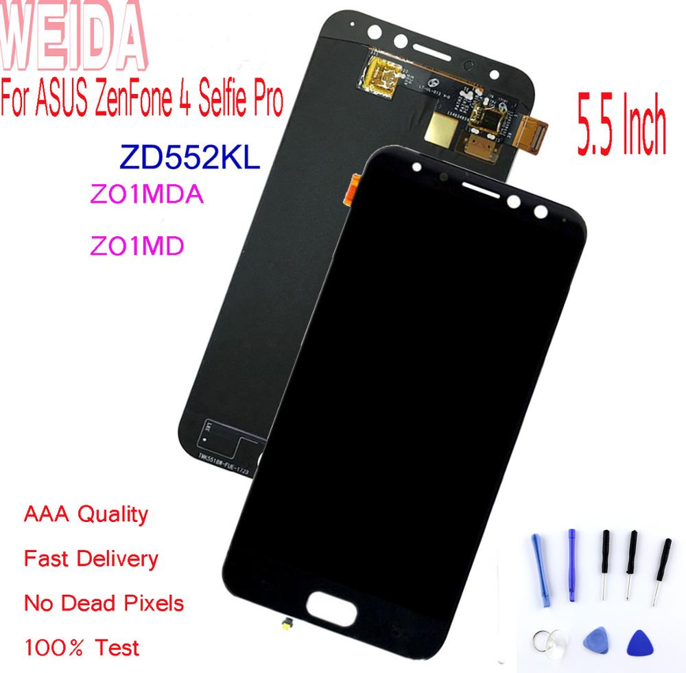 WEIDA 5 5 quot For ASUS ZenFone 4 Selfie Pro ZD552KL Z01MDA Z01MD LCD Display Touch Screen Digitizer Assembly ZD552KL With Tool in Mobile Phone LCD Screens from Cellphones amp Telecommunications