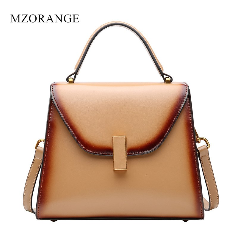 Vintage women handbags 2017 100% genuine leather  Famous Brand Flap Ladies Tote Shoulder Bag simple style crossbody bags Box nucelle brand design vintage luxury leopard with horse coat cow leather women ladies handbag shoulder crossbody flap bags