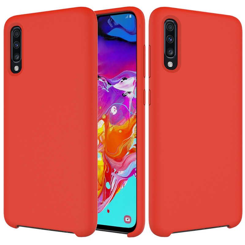 Pour Samsung Galaxy A70 A 70 étui pour Samsung A70 S10 5G M20 M10 S10 Lite A9 Star Pro A8 Plus 2018 couverture arrière en silicone liquide souple