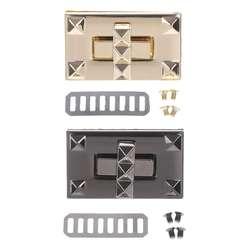 Металлические закручивающиеся застежки поворотные замки для DIY сумки сумка мешочек ручного изготовления кошелек оборудование