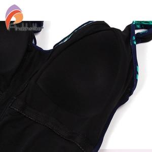 Image 5 - Andzhelika 2020 New Women Plus Size Swimsuit Print One Piece Swimwear Fold Bodysuit Bathing Suit Brazilian Summer Beach Monokini