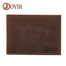 JOYIR 2017 NEW Men Genuine Leather Drive License Holder Crazy Horse Leather Credit Card Holder Fashion
