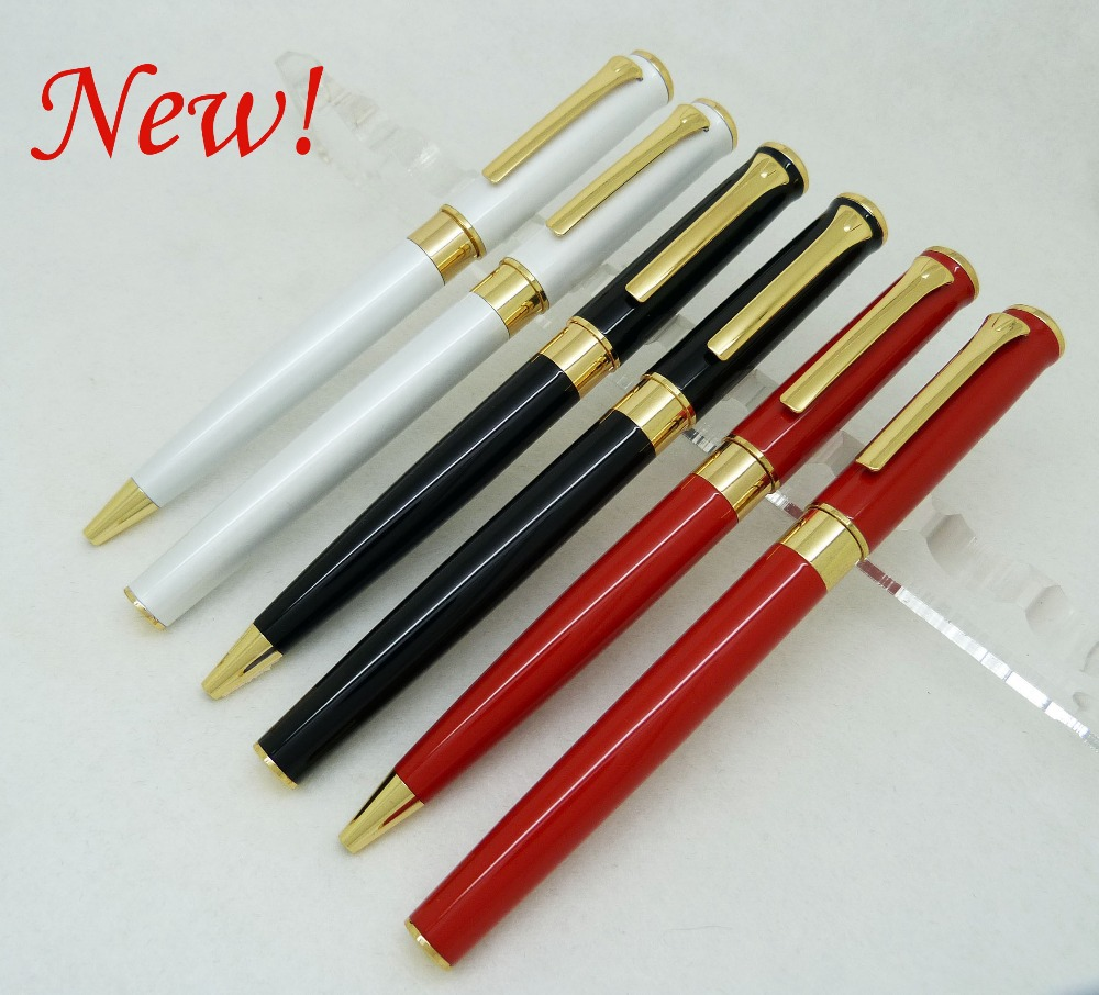 1209CB Wholesale metal pen of ball pen roller pen can make your Logo 300pcs/lot for promotion gift 3colors can choose