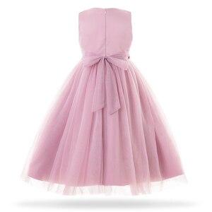 Image 2 - Cielarko ילדי ארוך נסיכת שמלת 2019 חדש ילד בנות חתונה יום הולדת פורמליות המפלגה שמלת כדור שמלה סגול לבן 2  11 שנים