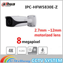 Dahua CCTV Netzwerk Eco versierte 3,0 Serie IPC-HFW5830E-Z 8MP IR motorisierte objektiv Dome Kamera IP67, IK10, PoE Kostenloser