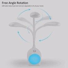 Portable LED USB Table Lamp Adjustable Brightness 3 Touch Modes Night Light