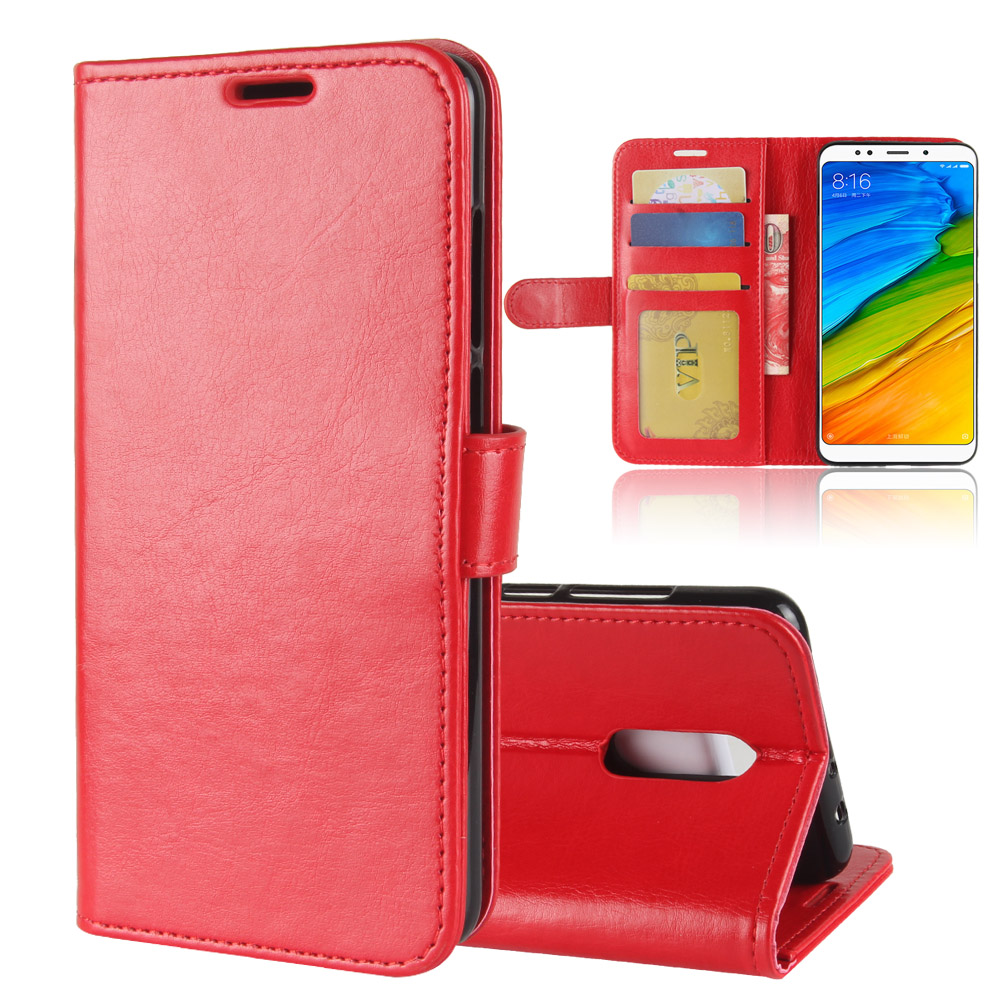 for Xiaomi Redmi 5 Plus Case, Business Flip PU Leather Case Wallet Card Hold ID Slot Kickstand Cover 5.99 inch Shell Bag