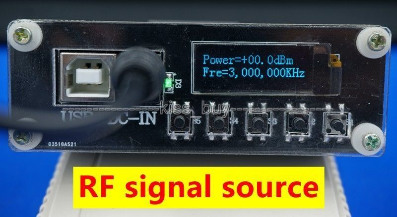 OLED affichage numérique ADF4351 35 MHZ-4.4 GHZ générateur de Signal fréquence RF source de signal + dc 12 v puissance avec port usb - 4