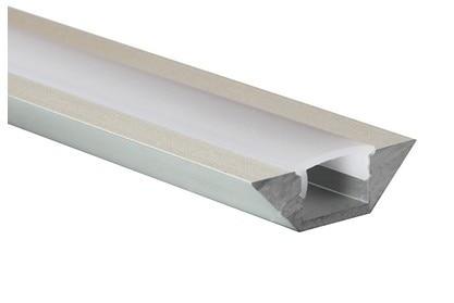 Eloxované hliníkové kanály 1m / 3,3 stop pro kuchyňské skříňky LED osvětlení nebo LED osvětlení výstavních bot, 10m / lot, DOPRAVA ZDARMA