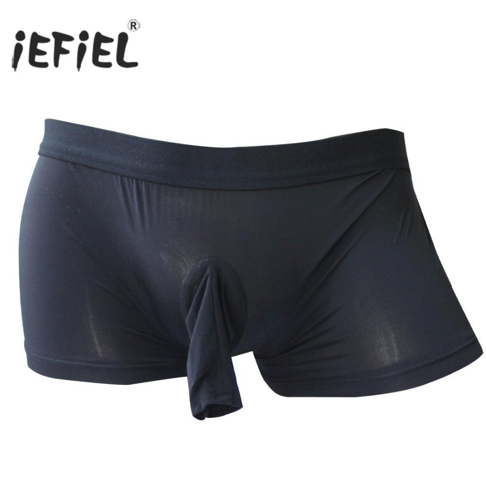 Mens Lingerie Trunks Boxer Patent Leather Shorts Men Boxer Gay Strappy Open Butt Boxer Underwear Men Gay Pouch Panties Jockstrap Boxers Men's Underwear