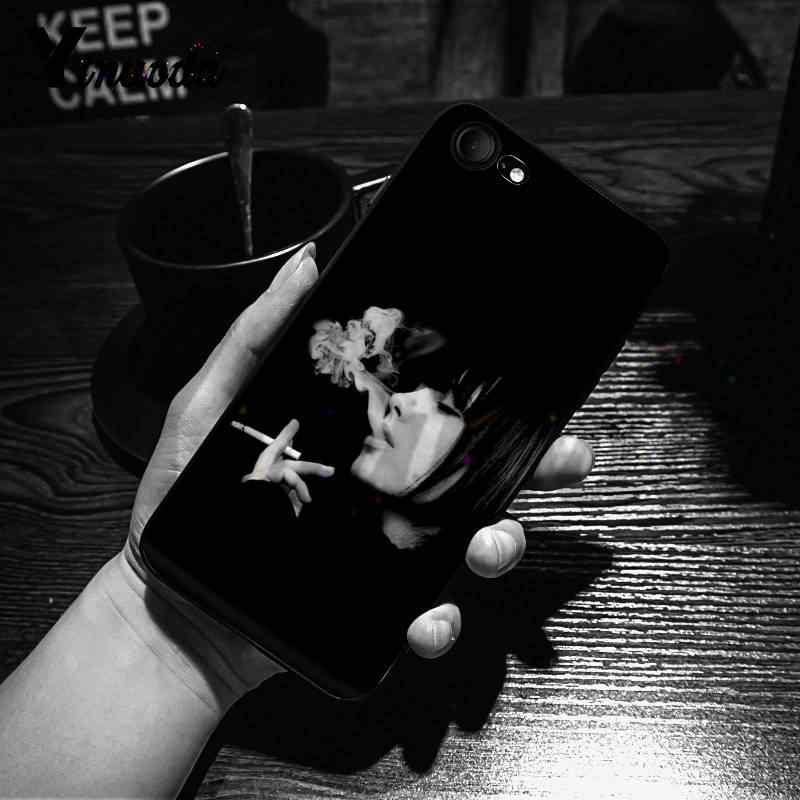 Yinuoda مثير فتاة التدخين السجائر الكلاسيكية أفضل الهاتف حقيبة لهاتف أي فون X 6 7 6s 7plus 8 8Plus XS XR 5C11 11pro 11promax