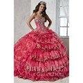 Palácio Captadores Basco Quinceanera Vestidos Rosa Lace Apliques Diferenciados Frente Vestido de quinceanera vestido de Debutante Vestido de Festa 2016
