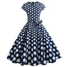 Wipalo Women Dress Retro Vintage 1950s 60s Rockabilly Floral Swing Summer Dresses Elegant Bow-Knot Tunic Vestidos Robe Oversize