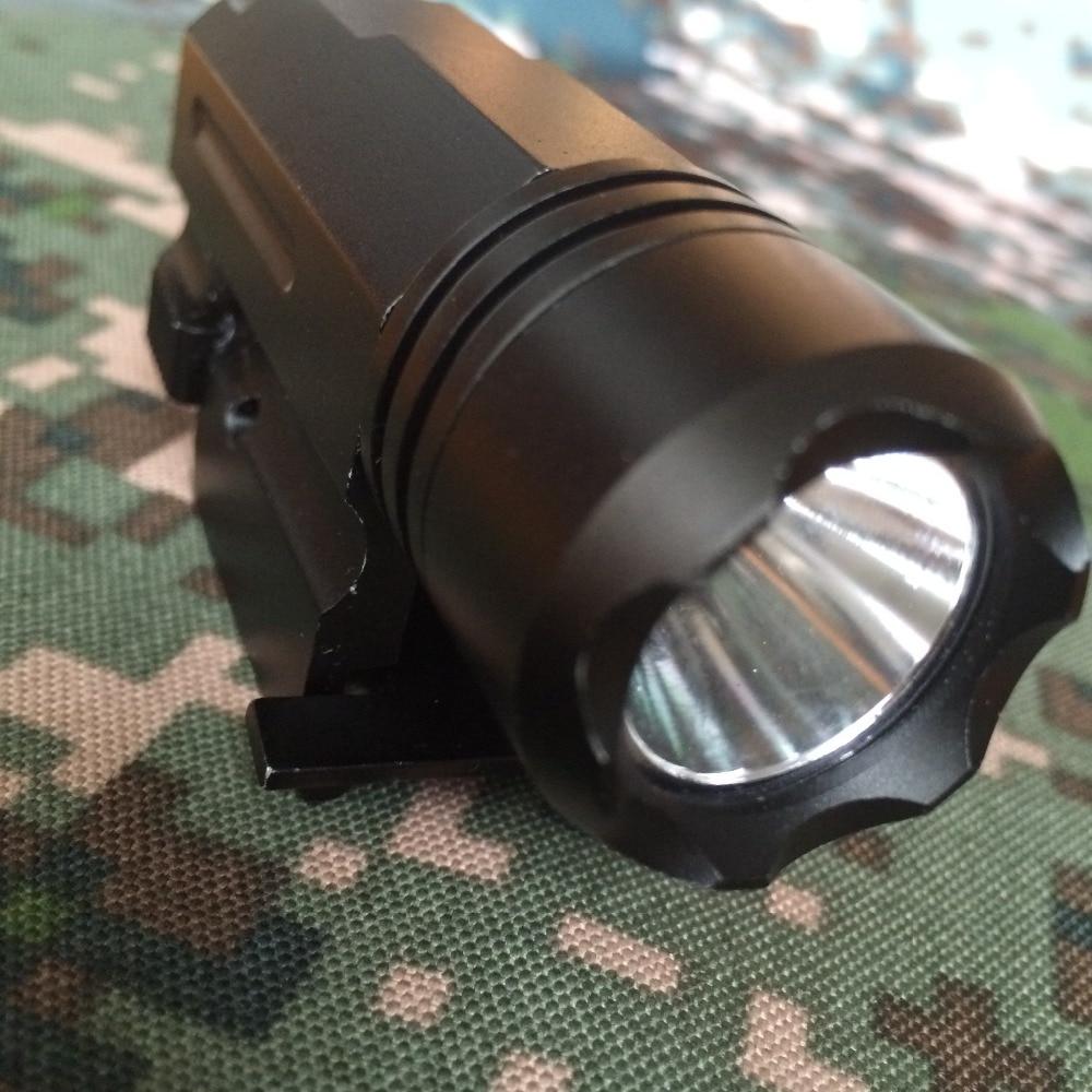 LED Shotgun Rifle Glock Gun Flash Light 600 Lumen Tactical Torch Flashlight with Release Mount for Pistol Airsoft 20 mm