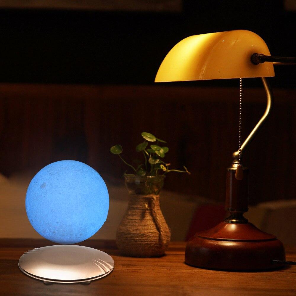 Lampe de lune d'impression 3D lévitant 7 couleurs changeant la veilleuse de LED pour la décoration de noël à la maison 45